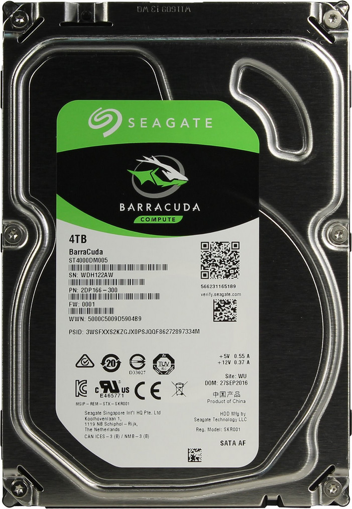 Жёсткий диск HDD 4TB Seagate Barracuda ST4000DM005