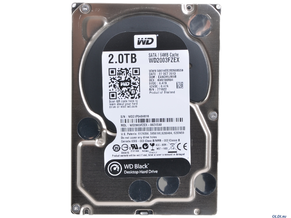 Жёсткий диск HDD 2TB Western Digital Black WD2003FZEX